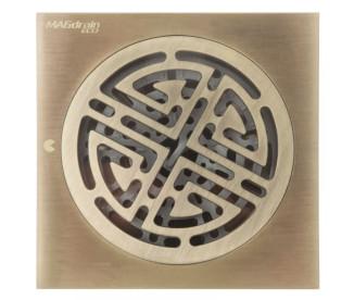 Трап для душа MAGdrain CC07Q50-Q (100x100x4 мм,  бронза полированная, латунь)